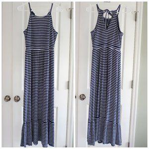Old Navy Petite Maxi Dress Navy & white stripes M